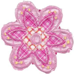 Embroidery Design Set - Cute Flower Raggedy Applique 11