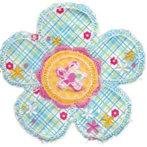Embroidery Design Set - Cute Flower Raggedy Applique 3