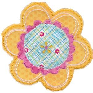 Embroidery Design Set - Cute Flower Raggedy Applique 4