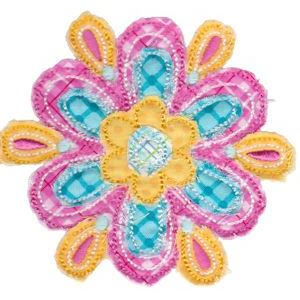 Embroidery Design Set - Cute Flower Raggedy Applique 5