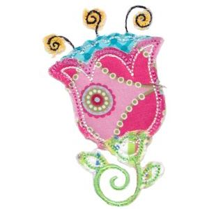 Embroidery Design Set - Cute Flower Raggedy Applique 6