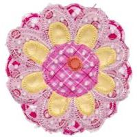 Embroidery Design Set - Cute Flower Raggedy Applique