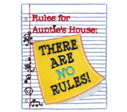 Rules For Aunties House