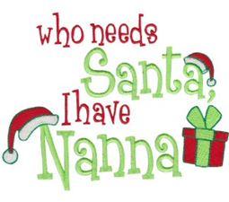 Who Needs Santa I Have Nanna