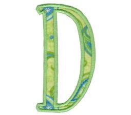 Delicious Applique Alphabet d