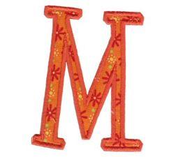 Delicious Applique Alphabet m