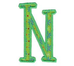 Delicious Applique Alphabet n