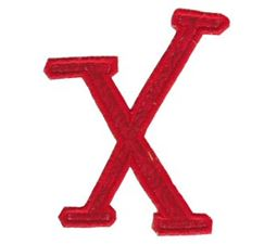 Delicious Applique Alphabet x