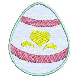 Embroidery Design Set - Easter Eggs Applique 2