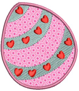 Easter Eggs Applique 3