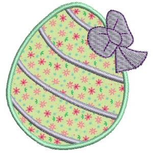 Embroidery Design Set - Easter Eggs Applique 4