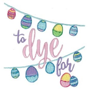 Embroidery Design Set - Easter Sentiments Too 7