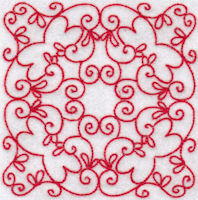 Elegant Quilt Blocks Redwork