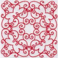 Elegant Quilt Blocks Redwork
