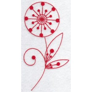 Embroidery Design Set - Fantasy Flowers Redwork 3