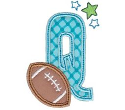 Football Alphabet Applique 17