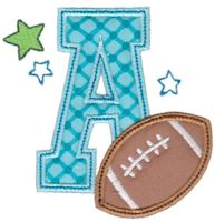 Football Alphabet Applique