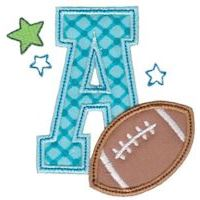 Embroidery Design Set - Football Alphabet Applique