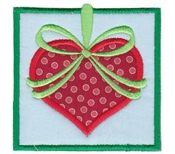 Heart Ornament Applique