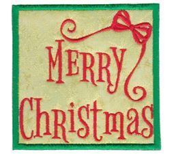 Merry Christmas Applique
