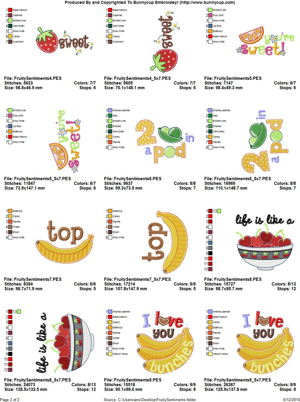 Free Kitchen Embroidery Designs - Free Embroidery Patterns