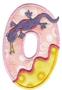 Funky Applique Numbers 0