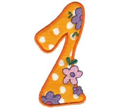 Funky Applique Numbers 1