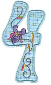 Funky Applique Numbers 4