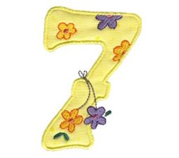 Funky Applique Numbers 7