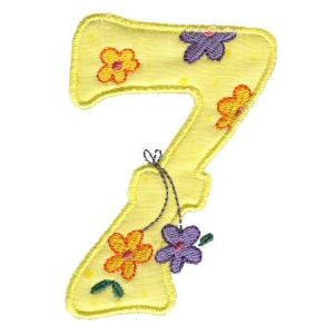 Embroidery Design Set - Funky Applique Numbers 7