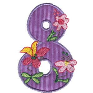Embroidery Design Set - Funky Applique Numbers 8