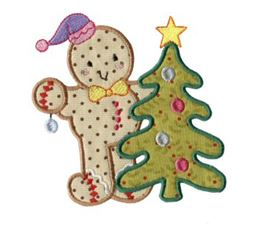 Gingerbreads Applique 11