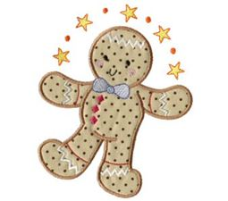 Gingerbreads Applique 4