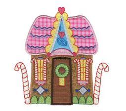 Gingerbread Village Applique 2