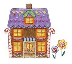 Gingerbread Village Applique 3