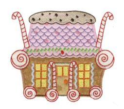 Gingerbread Village Applique 4