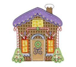 Gingerbread Village Applique 5