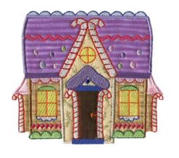 Gingerbread Village Applique 6