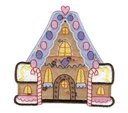 Gingerbread Village Applique 9
