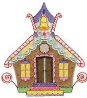 Gingerbread Village Applique