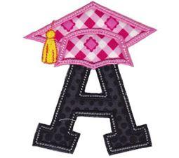 Graduation Alphabet Applique 1