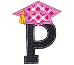 Graduation Alphabet Applique 16