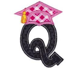 Graduation Alphabet Applique 17