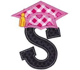 Graduation Alphabet Applique 19