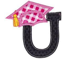 Graduation Alphabet Applique 21