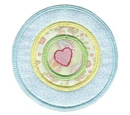 Hearts And Circles Applique 10