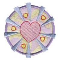 Hearts And Circles Applique