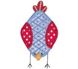 Here Birdy Applique 1