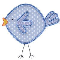 Embroidery Design Set - Here Birdy Applique