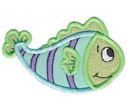 Here Fishy Applique 2